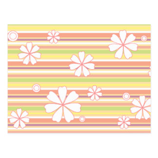 floral stripes_1 post card