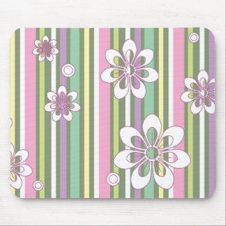 floral stripes_2a mouse mat