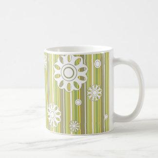 floral stripes_3a coffee mug