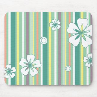 floral stripes_4a mouse mats