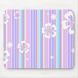 floral stripes_5a mouse mat