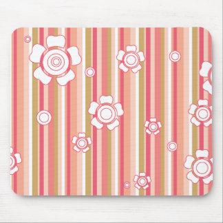 floral stripes_6a mouse pad