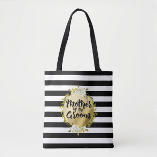 Floral & Stripes Mother of the Groom | Tote