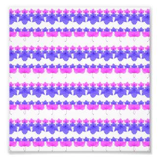 Floral Stripes Pattern Photo Art