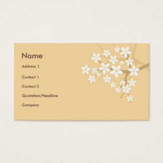 Floral Style with Sakura Hieroglyph Business Card
