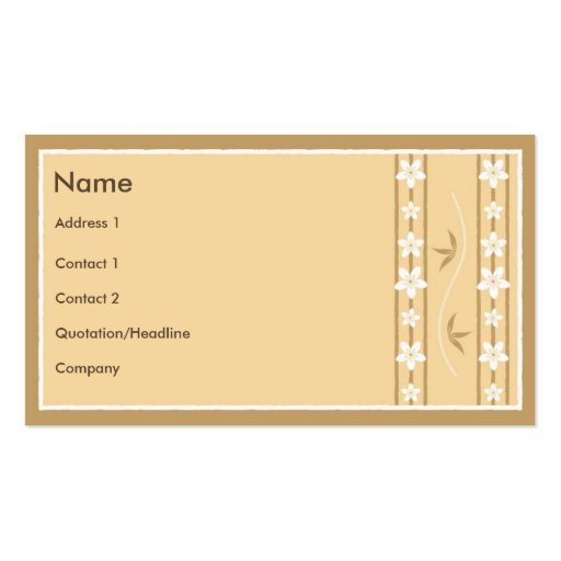 Floral Style with Sakura Hieroglyph Business Cards