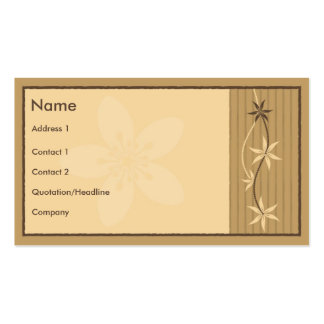 Floral Style with Sakura Hieroglyph Pack Of Standard Business Cards