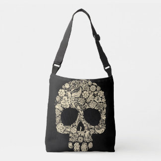 Floral Sugar Skull All-Over-Print Cross Body Bag