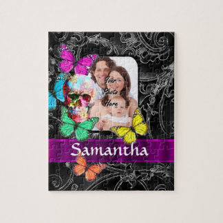 Floral sugar skull and butterflies jigsaw puzzle