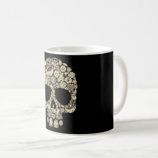Floral Sugar Skull Coffee Mug