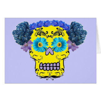 Floral Sugar Skull Note Card