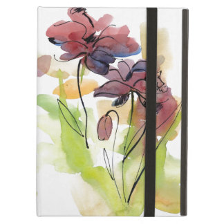 Floral summer design with hand-painted abstract 2 case for iPad air