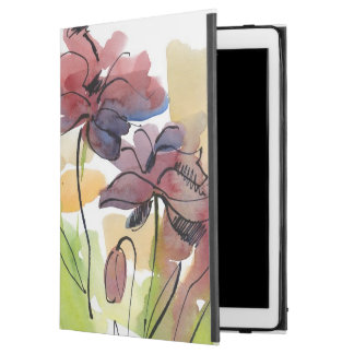 """Floral summer design with hand-painted abstract 2 iPad pro 12.9"""" case"""