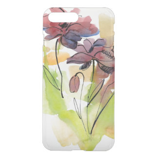 Floral summer design with hand-painted abstract 2 iPhone 8 plus/7 plus case