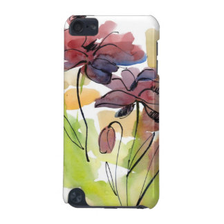 Floral summer design with hand-painted abstract 2 iPod touch 5G covers