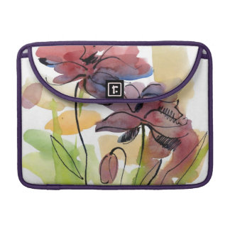 Floral summer design with hand-painted abstract 2 sleeve for MacBook pro
