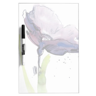 Floral summer design with hand-painted abstract dry erase board