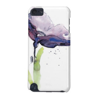 Floral summer design with hand-painted abstract iPod touch 5G cover