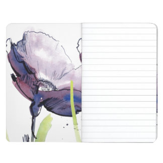 Floral summer design with hand-painted abstract journal