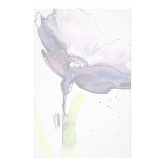 Floral summer design with hand-painted abstract personalised stationery