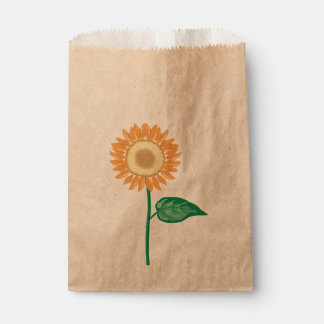 Floral Sunflower Golden Yellow Flower Painted Favour Bags
