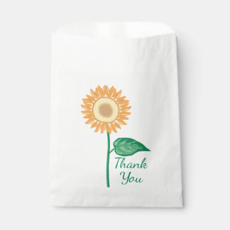 Floral Sunflower Golden Yellow Thank You Flower Favour Bags
