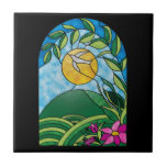 Floral Sunlight Vintage Stained Glass Style
