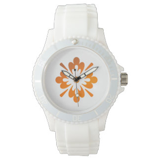 Floral Sunset Orange Sky Abstract Sporty Watch