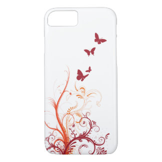 Floral Swirl Butterfly iPhone 7 Case