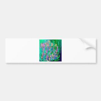 Floral swirl kaleidoscope design image bumper sticker