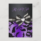 Floral Swirl RSVP With Jewelled Bow