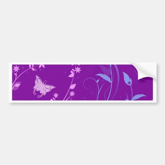 Floral Swirls and Butterflies Bumper Sticker