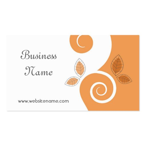 Floral Swirls Business Card