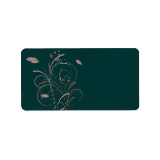 Floral Swirls Label