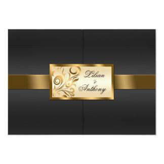 Floral Swirls Wedding Invitation