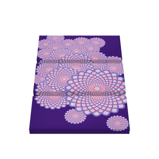 Floral Symmetry- Any Background Colour! Canvas Prints