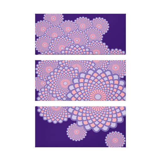 Floral Symmetry- Any Background Colour! Gallery Wrap Canvas