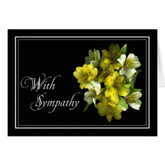 Floral Sympathy/Condolence Card - Customized