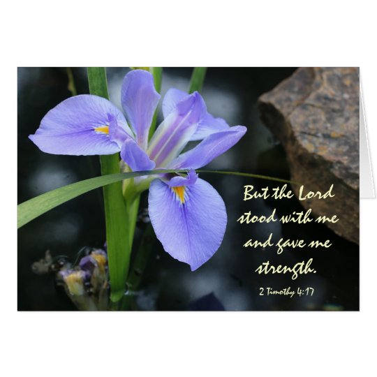 Floral Sympathy, Scripture Verse on God's Strength Card
