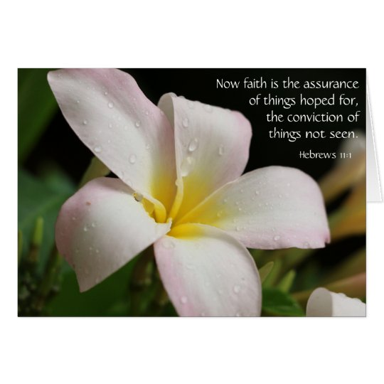 Floral Sympathy w verse (Hebrews) on faith hope Card