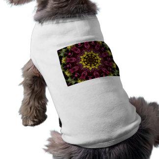 Floral Symphony Doggie Tees - Kaleidoscope Sleeveless Dog Shirt