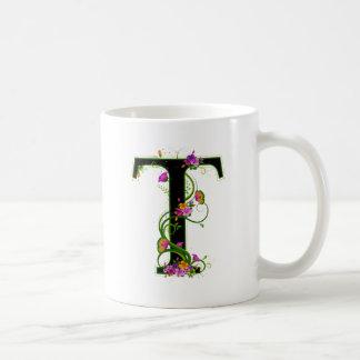 Floral T Classic White Coffee Mug