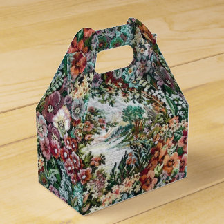 Floral Tapestry Favour Box