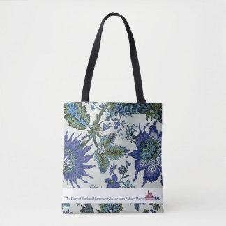 Floral Tapestry Museum LA Tote Bag