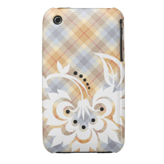 Floral Tattoo design iPhone case Country Plaid