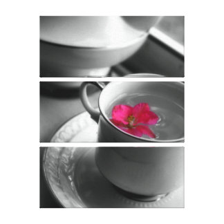 Floral Tea Canvas Print