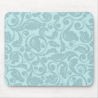 Floral Teal Pattern Mousepad