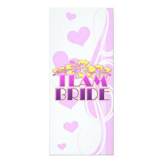 Floral Team Bride Bridesmaids wedding classy fun 10 Cm X 24 Cm Invitation Card