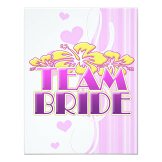 Floral Team Bride Bridesmaids wedding classy fun 11 Cm X 14 Cm Invitation Card