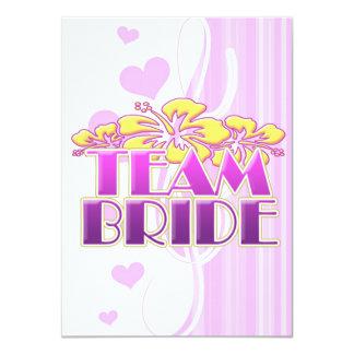 Floral Team Bride Bridesmaids wedding classy fun 11 Cm X 16 Cm Invitation Card